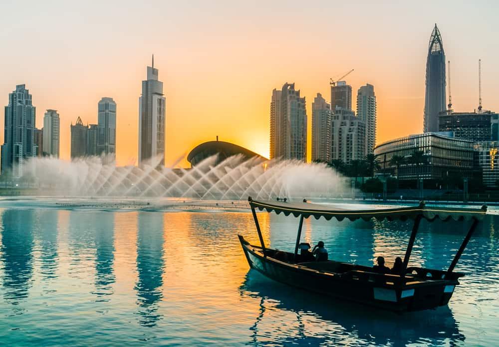 Dubai Promenade Springbrunnen