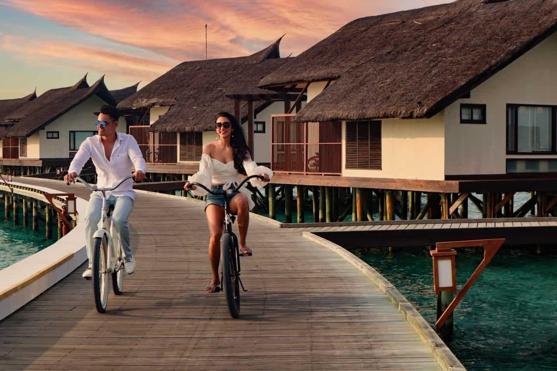 Ozen Reserve Bolifushi Malediven Radfahren